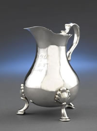 Silver Cream Jug by Tobias Stoutenburgh