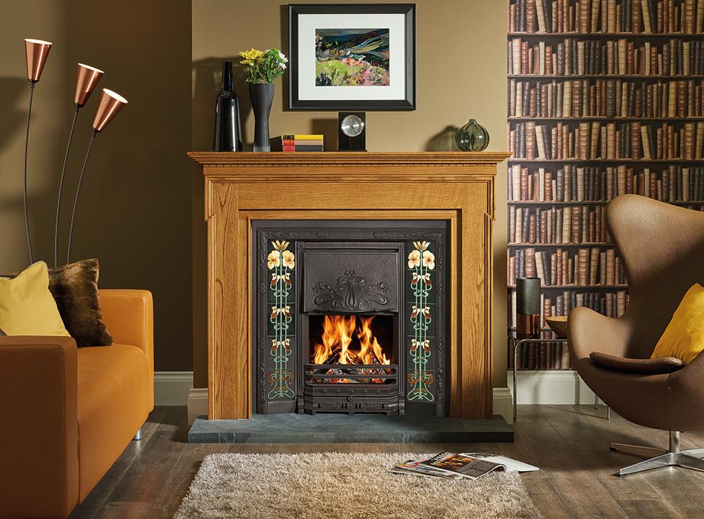 Art Nouveau Tiled Convector Fireplaces Stovax Fireplaces