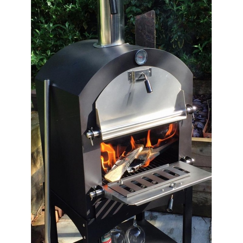 Cove Pizza Oven, Outdoor Oven, Garden Oven, Side BBQ on Outdoor Patio With Pizza Oven  id=54006
