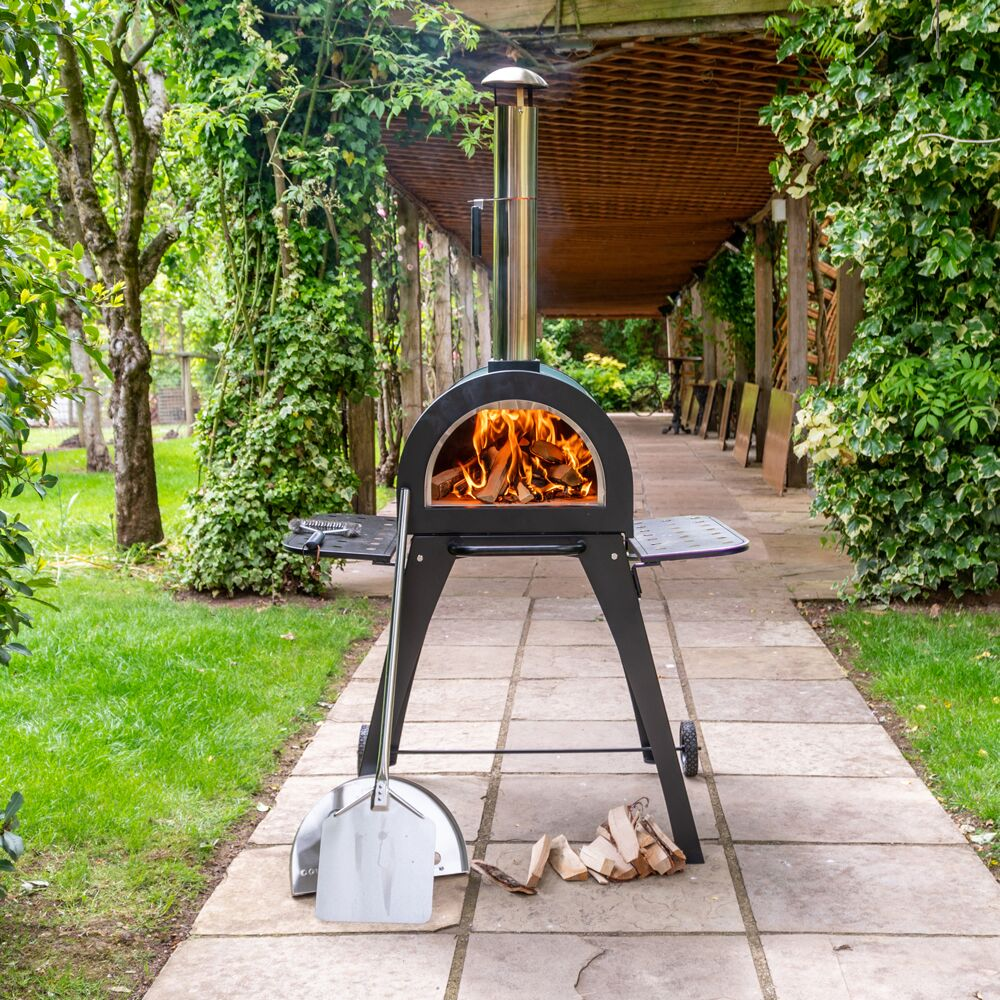 Cove Pizza Oven, Outdoor Oven, Garden Oven, Side BBQ on Outdoor Patio With Pizza Oven  id=33914