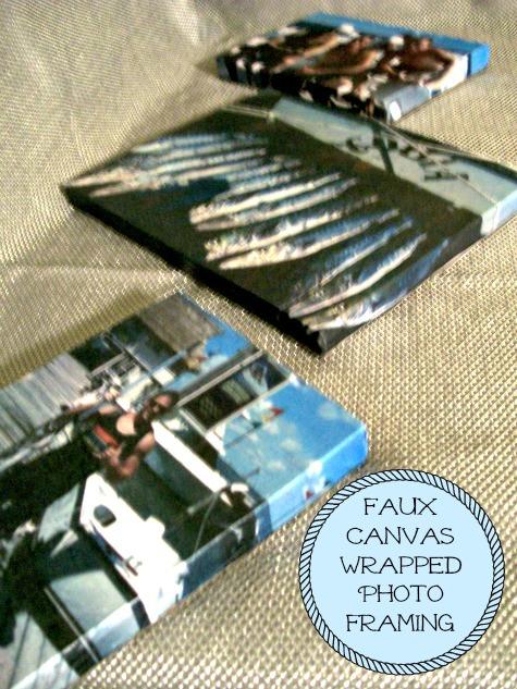 Faux canvas wrapped photo framing - StowandTellU