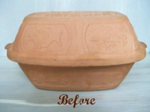 Clay pot roaster original-before