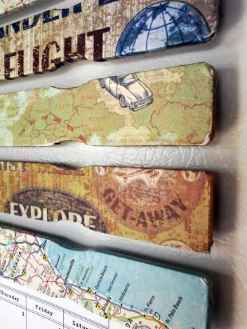 Decoupage Paint Stick Magnets - StowandTellU