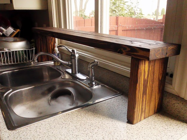 Inset Sink Sink Shelf Rustic Over The Decorative Kitchen Above