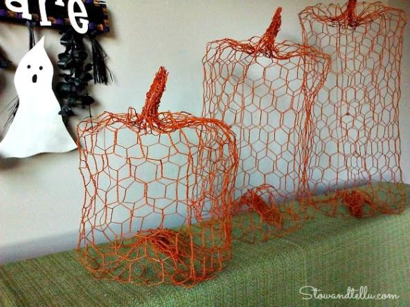 Chicken Wire Pumpkin - StowandTellU
