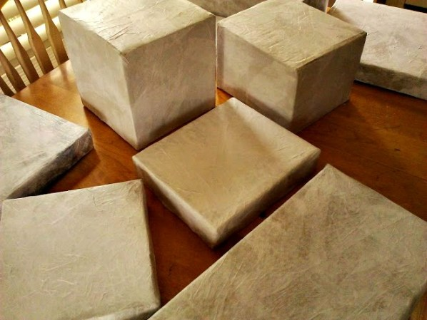 Raw Hide-Faux Leather Storage box with lid-StowandTellU13