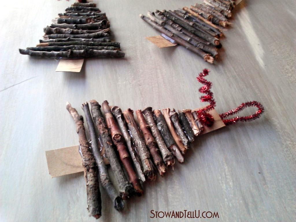 Rustic Twig Christmas Tree Ornaments StowampTellU