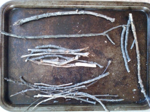Sort twigs-Rustic twig and cardboard Christmas tree ornaments - StowandTellU