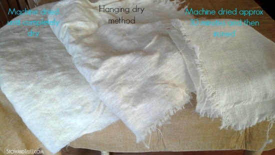 How to wash and dry burlap-And what to expect-StowandTellU