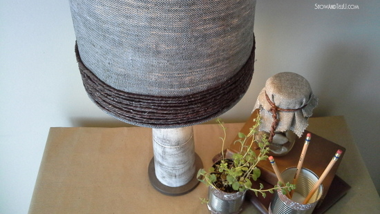 Grapevine wire wrapped lamp shade revamp - StowandTellU