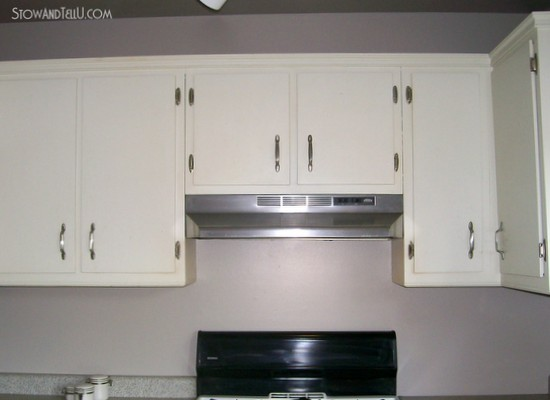Modified cabinet for microwave install