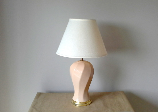 flesh toned 80s lamp