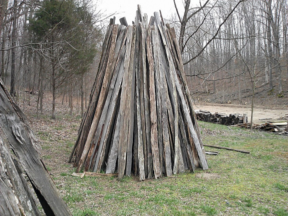 drying wood-the-homeplace-working-farm