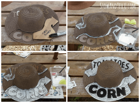 how-to-make-garden-straw-hat-signage