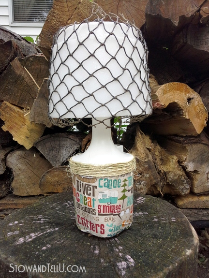 decoupaged-camping-lantern