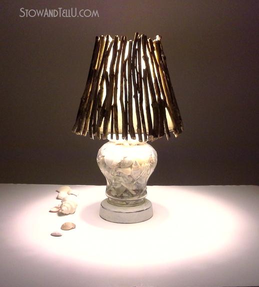 Twig Lamp coastal inspired diy twig lamp shade | stow&tellu