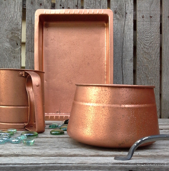 faux-hammered-copper-paint-texture, StowAndTellU.com