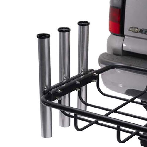 fishing rod holder for hitch rack 3 tubes