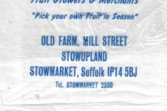 Old farm plastic bag