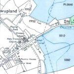 map showing Stowupland primary school and Holy Trinity church