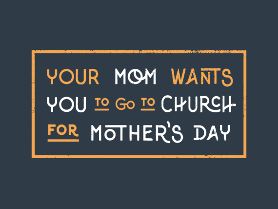 Mother's Day is Sunday.  What does your mom want??