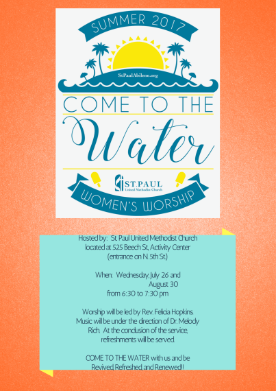 Women's Worship – Come to the Water