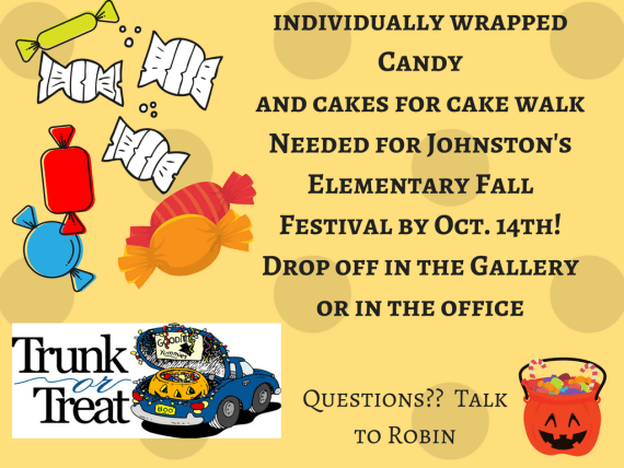 Johnston Elementary Fall Festival is coming on October 14th!