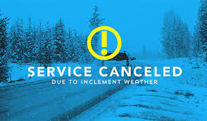Activities Cancelled 12/31