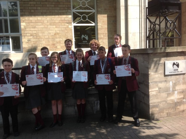 School Reporters receive their BBC School Report Certificates for taking part 2015/2016