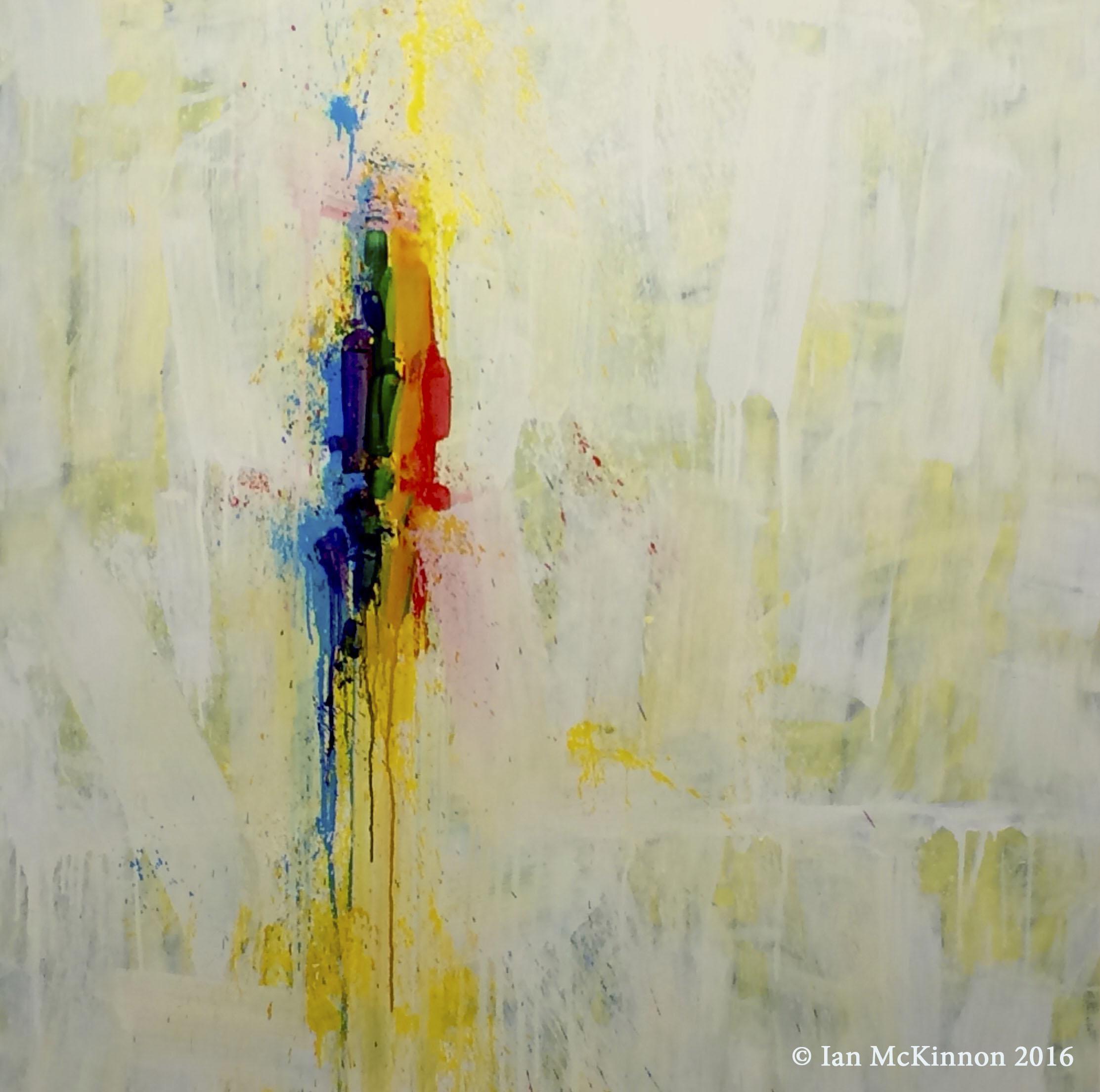 Untitled #71 (written in light) 36 in. x 36 in. oil on w… panel 2016