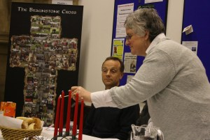 Lighting the Passover candles