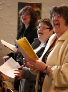 Singing joyfully to God