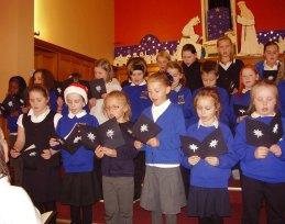 Members of Caldecote Community Primary School choir
