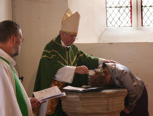 Sue is baptised