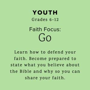 Youth learn how to defend their faith.