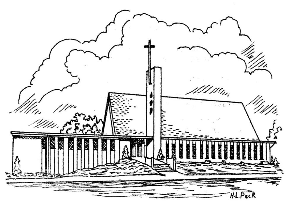 pencil drawing of St. Peter's Lutheran Church