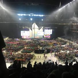 View from the seats at the first Mass Gathering