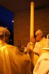 Preparing the Paschal Candle
