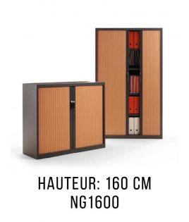 ng1600 armoire gapsa metalique a rideaux monobloc mi haute hauteur 160 cm