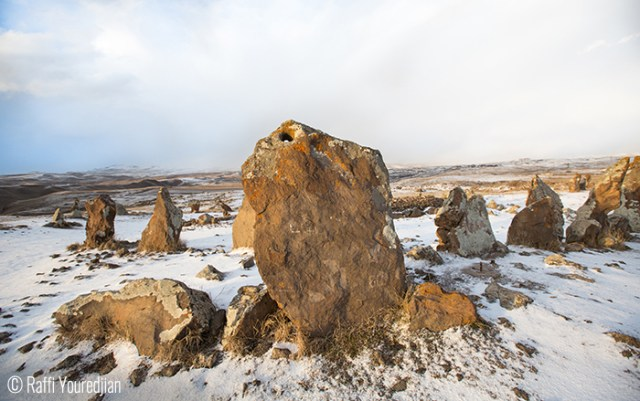 Raffi Youredjian (London, UK). Frozen Karer- Zorats Karer of Karahunj are the ancient stones thought to be an observatory on the outskirts of Sisian.
