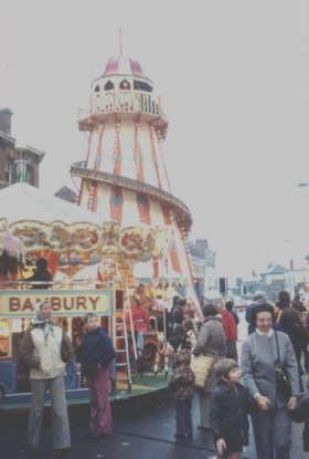 The Helter Skelter at Banbury Fair in the 1960s