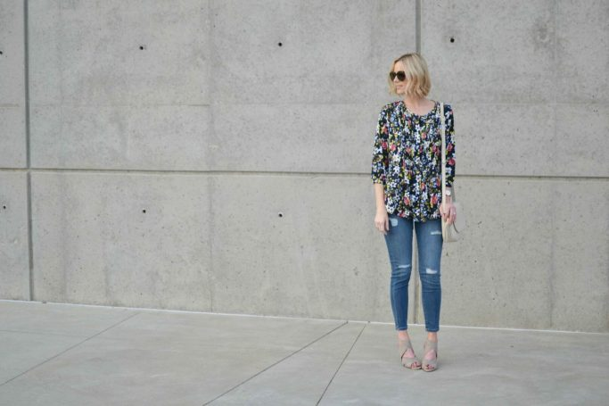 foral and distressed denim 2