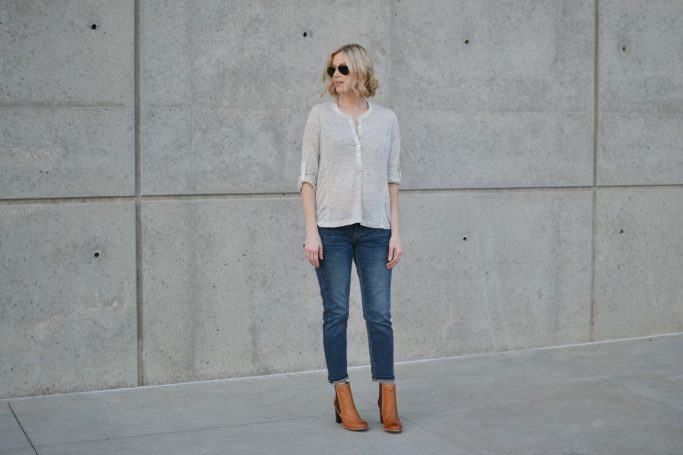 Tommy Bahama denim, Henley, boots