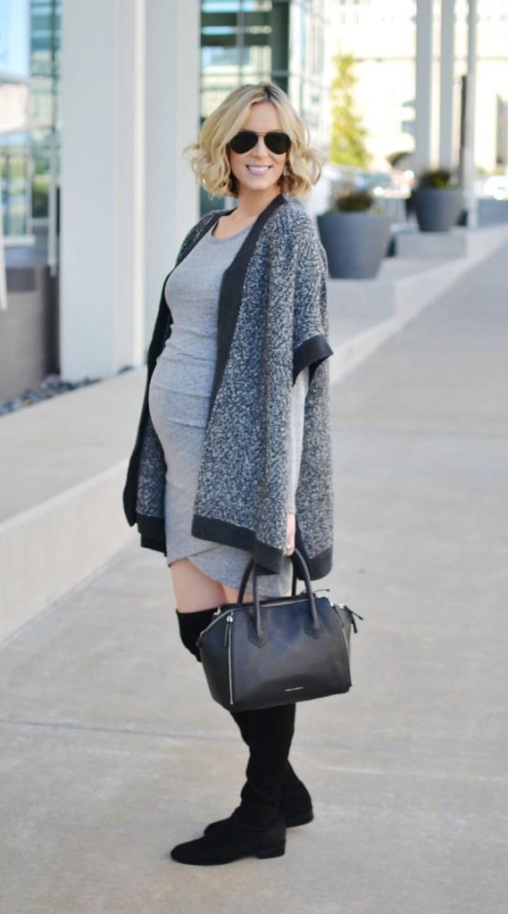ruched dress with poncho