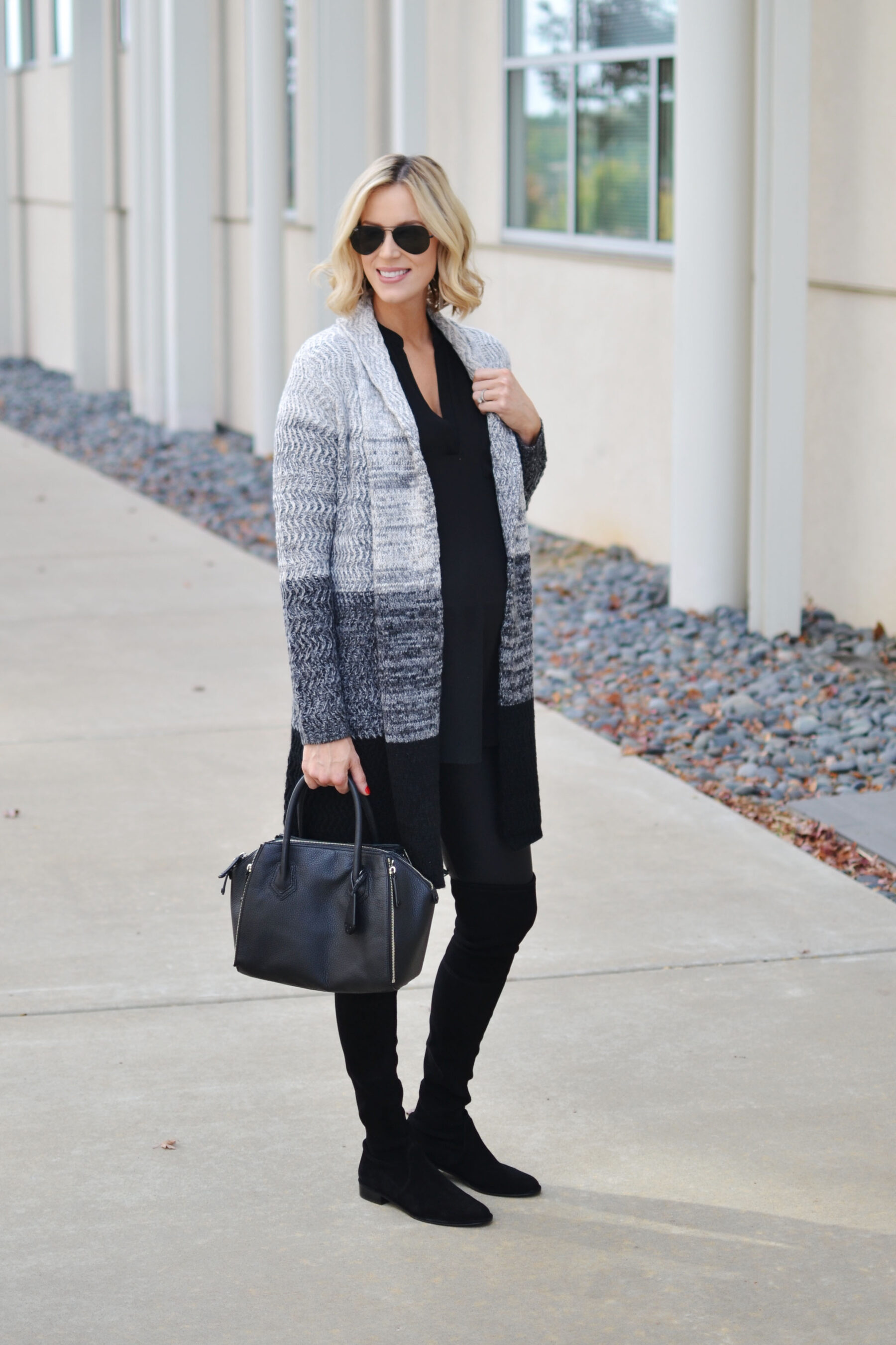 829dd6033a How to Style Faux Leather Leggings – with a tunic and ankle boots (post  here)