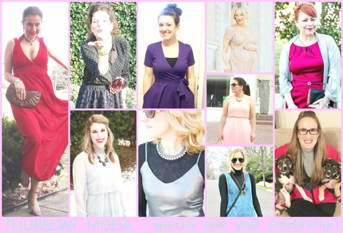 Thursday Moda Collaboration with 10 bloggers - a one year celebration