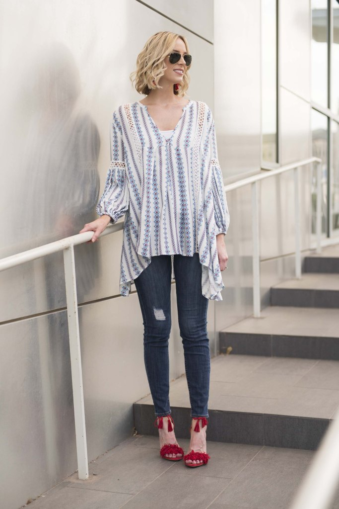 breezy tunic top