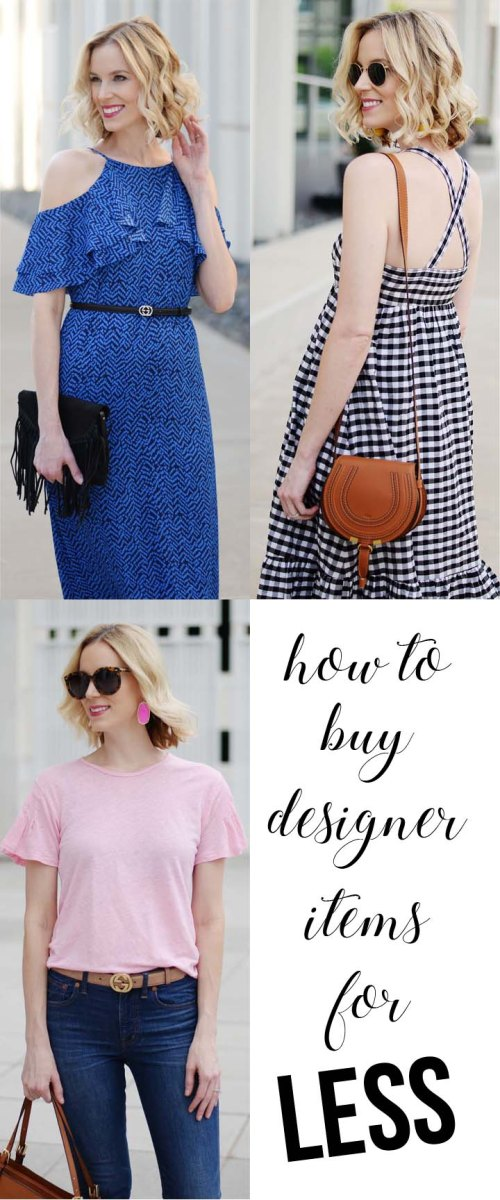 blog post about how to buy designer items for less
