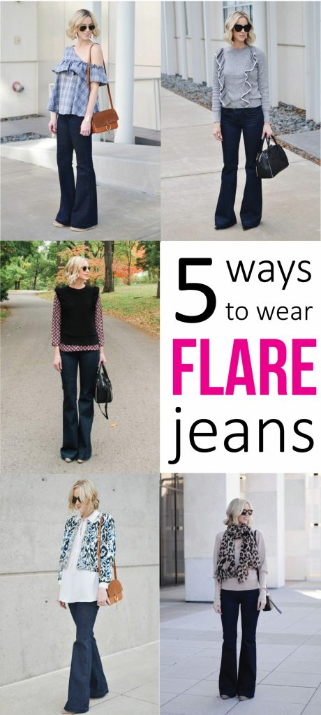 how to wear flare jeans