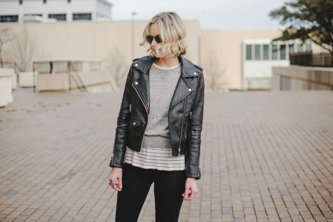 7cee1c3172 How to Wear a Leather Jacket - Straight A Style